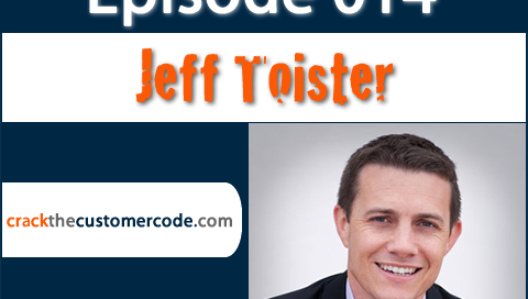 Jeff Toister Author of Service Failure | Crack the Customer Code Podcast Interview