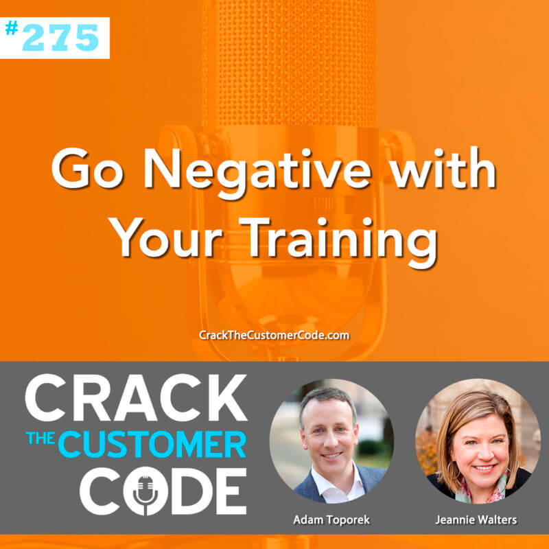 Negativity in customer service training